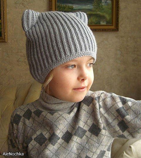 Вяжем шапку-кошку | Моё