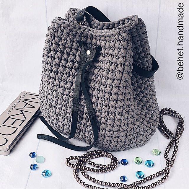 8900333885e8 Сумка-торба 😍 из трикотажной пряжи благородного ...
