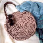 Круглая сумка «Дайана» из трикотажной пряжи. Мастер-класс